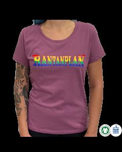 RANTANPLAN 'Rainbow Logo' Girlie Mauve