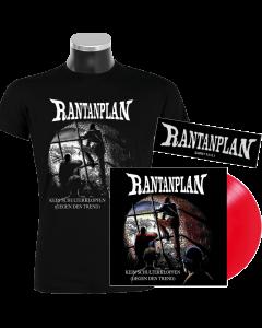 RANTANPLAN 'Kein Schulterklopfen (Gegen den Trend)' 25 Jahre Edition Vinyl T-Shirt Bundle