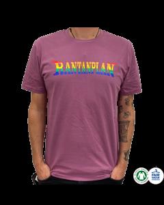RANTANPLAN 'Rainbow Logo' T-Shirt Mauve